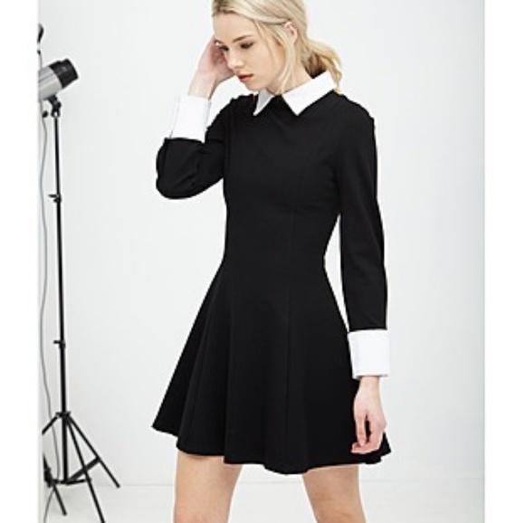 Asos Dresses Dress Collared Black White Small Structured Poshmark